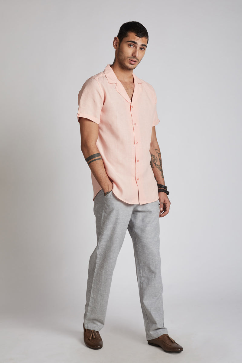 Arrow Resort Shirt - Peach