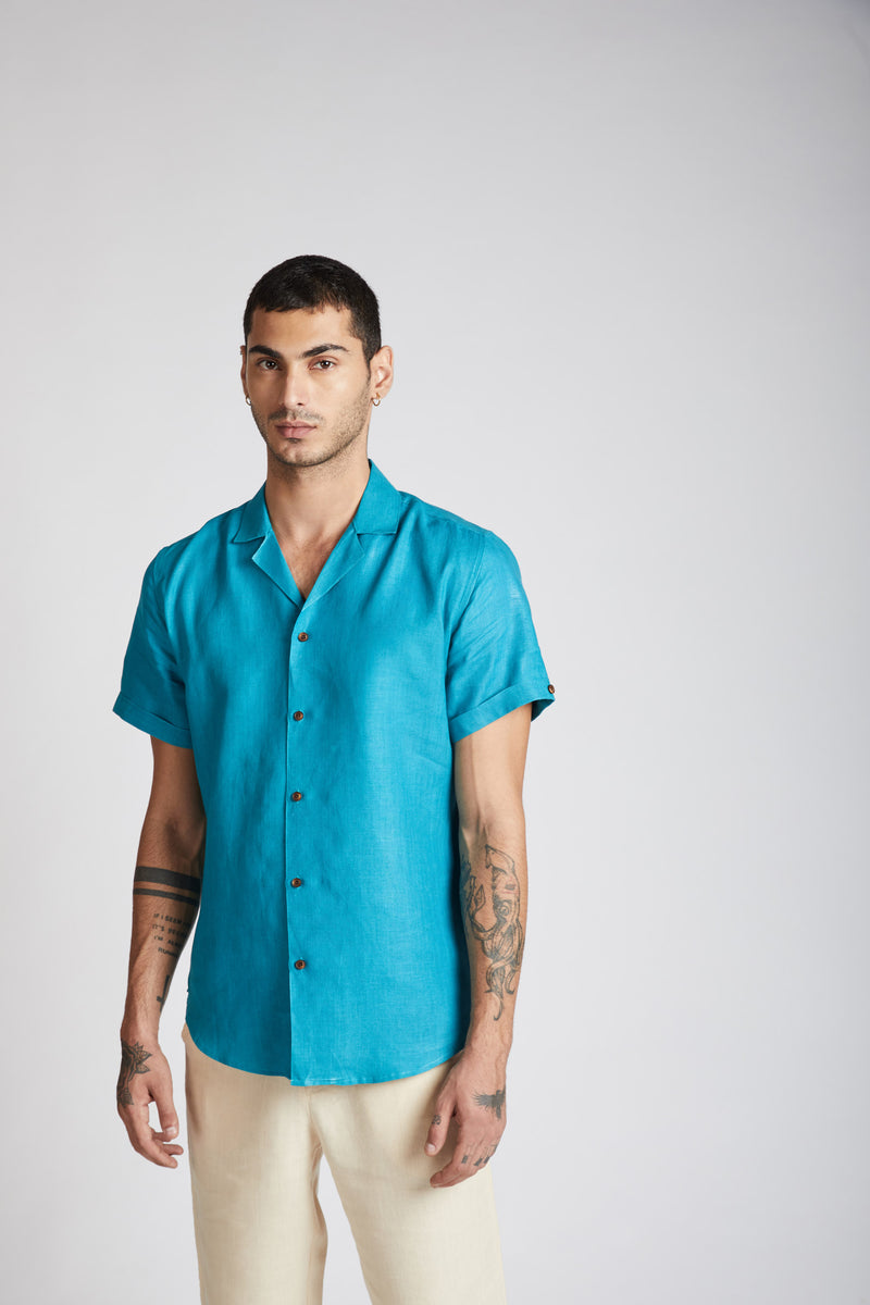 Arrow Resort Shirt - Teal