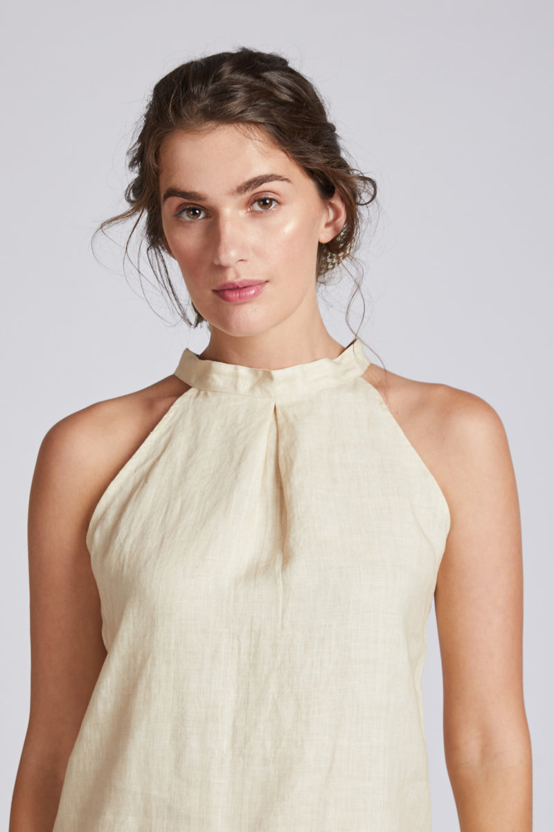 Tide Halter Top - Beige
