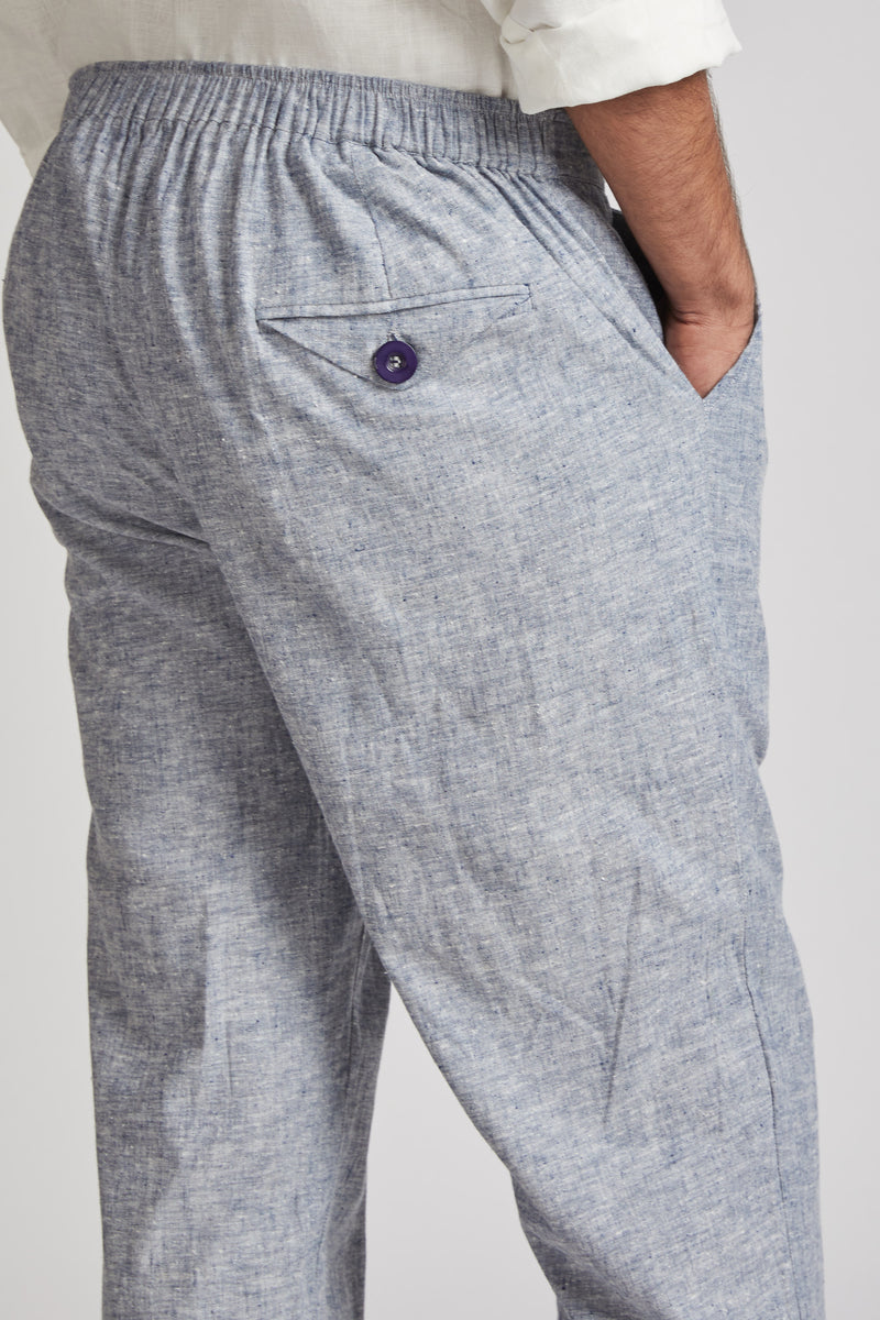 Beacon Casual Pants - Blue Melange