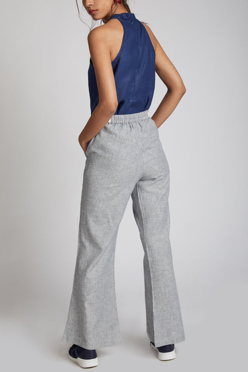 Mast Culotte Pants - Blue Stripes