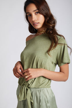 Reef Tie Up T-Shirt - Olive