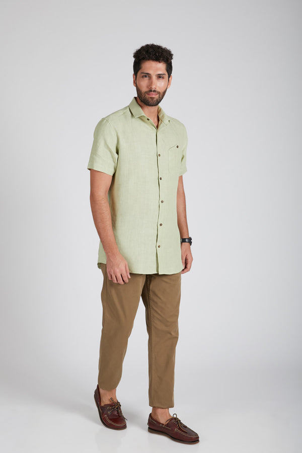 Burrow Half Sleeve Shirt - Green