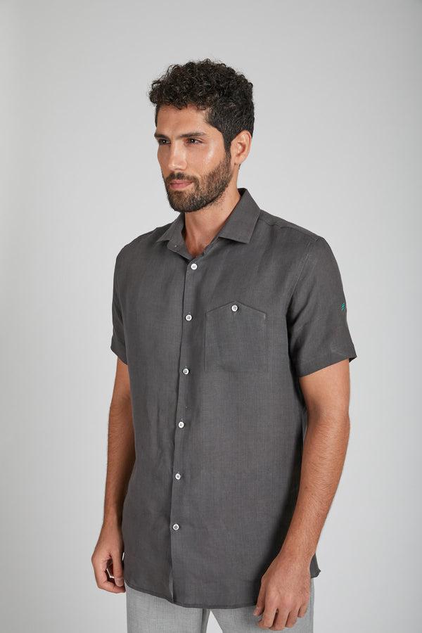 Burrow Half Sleeve Shirt - Grey