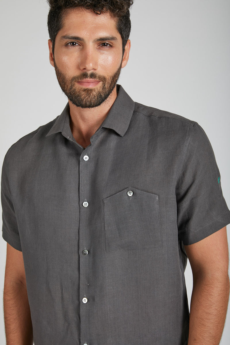 Burrow Half Sleeve Shirt - Grey (Only 38 left)