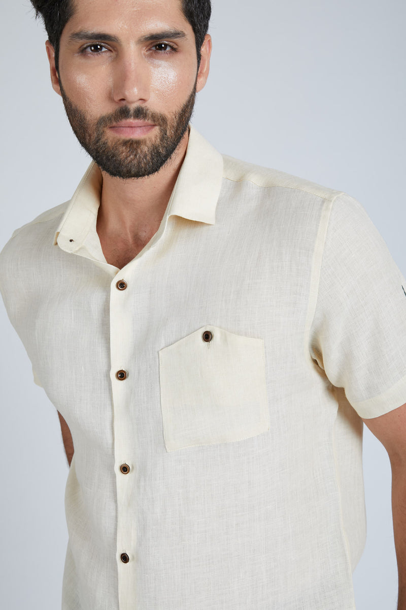 Burrow Half Sleeve Shirt - Light Beige