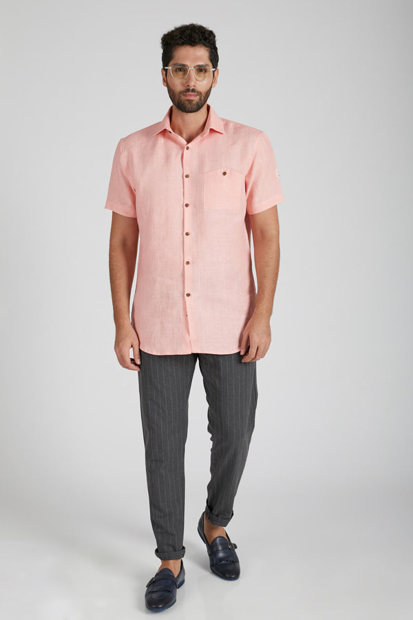Burrow Half Sleeve Shirt - Peach