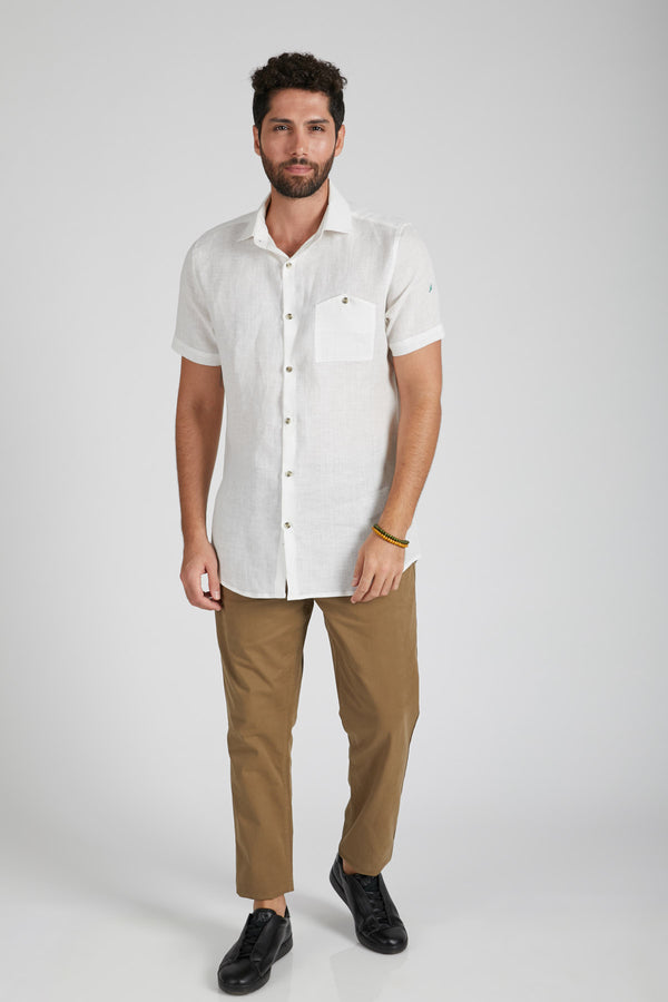 Burrow Half Sleeve Shirt - White