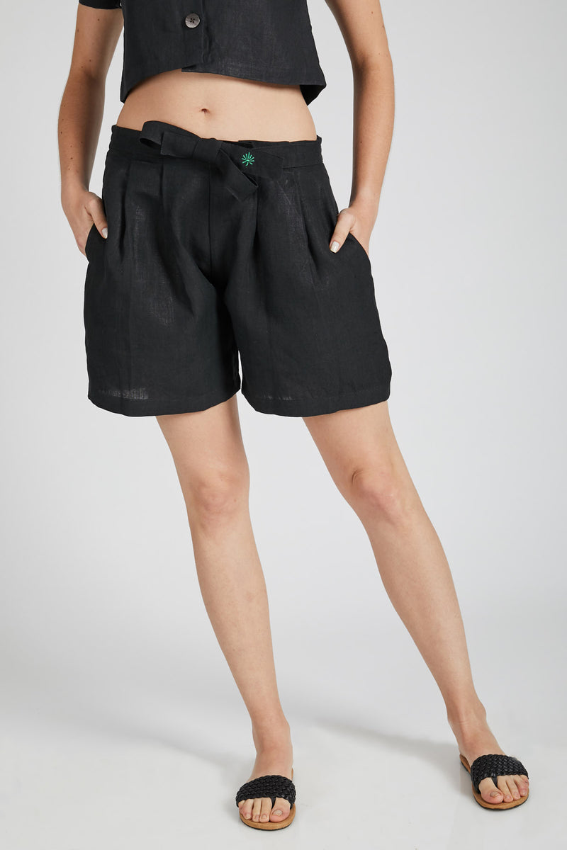 Co-Ords<br/>Flame Top & Gleam Shorts - Black