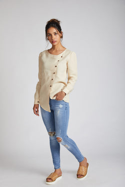 Compass Asymmetric Top - Beige