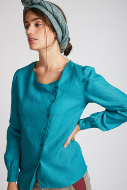 Compass Asymmetric Top - Teal
