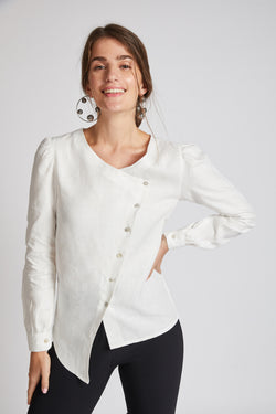 Compass Asymmetric Top - White