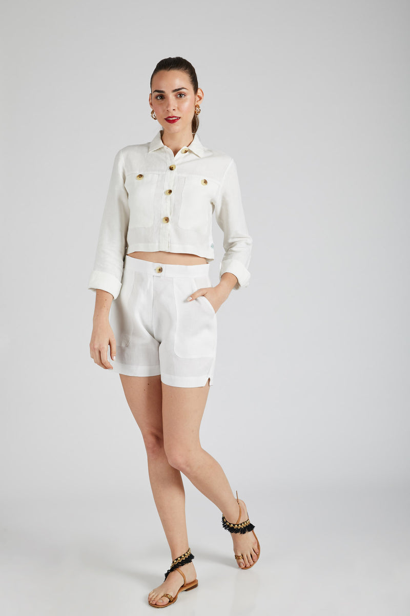 Co-Ords<br/>Nova Shirt & Spark Shorts - White