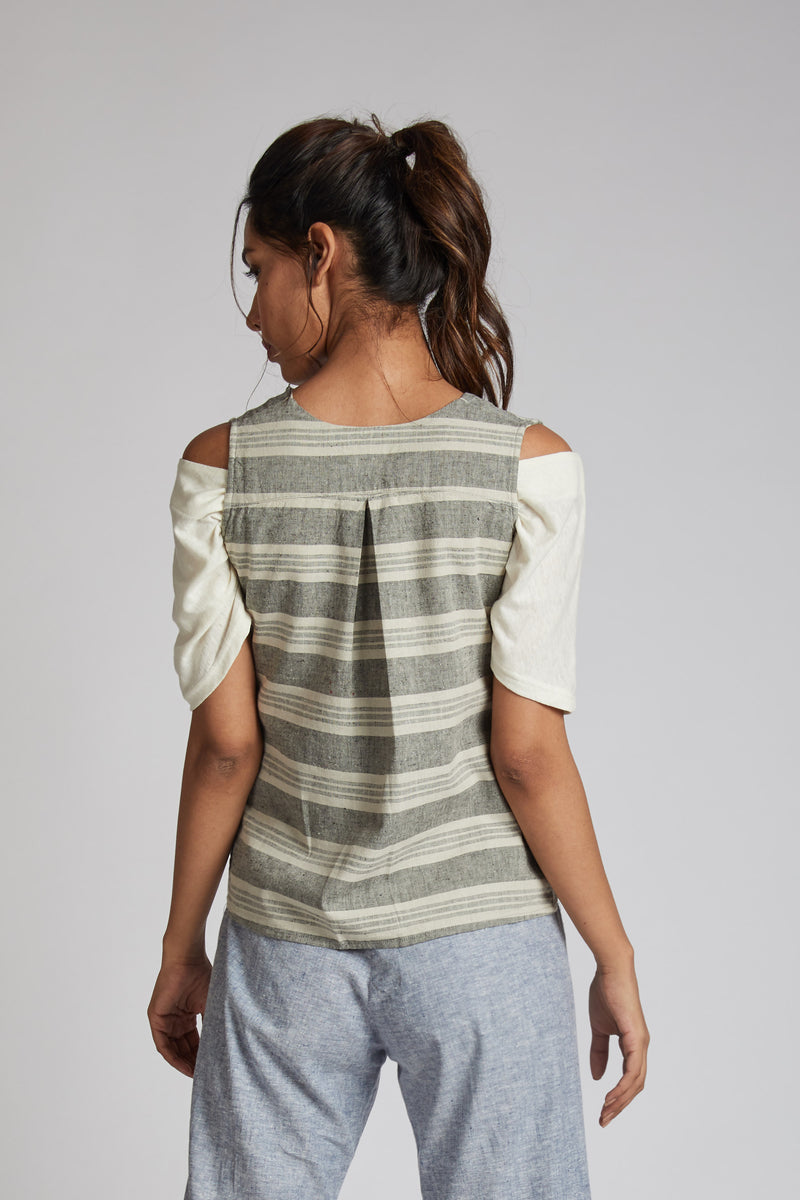Crossroad Over Jacket - Horizontal Stripes