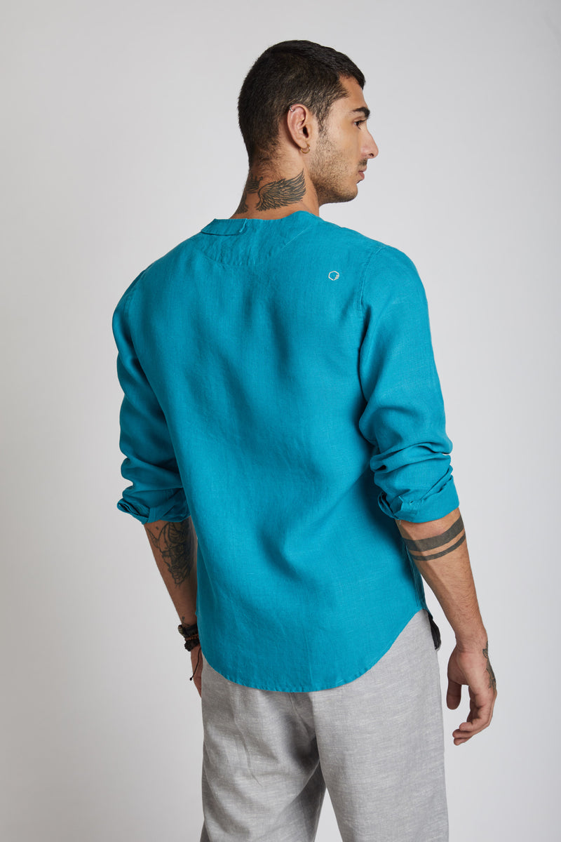 Delta Asymmetric Shirt - Teal