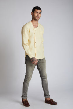 Delta Asymmetric Shirt - Yellow