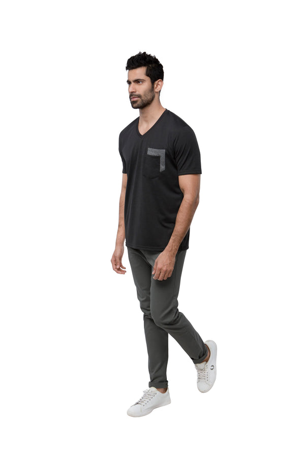 Eclipse Double Pocket T - Shirt  - Dark Grey