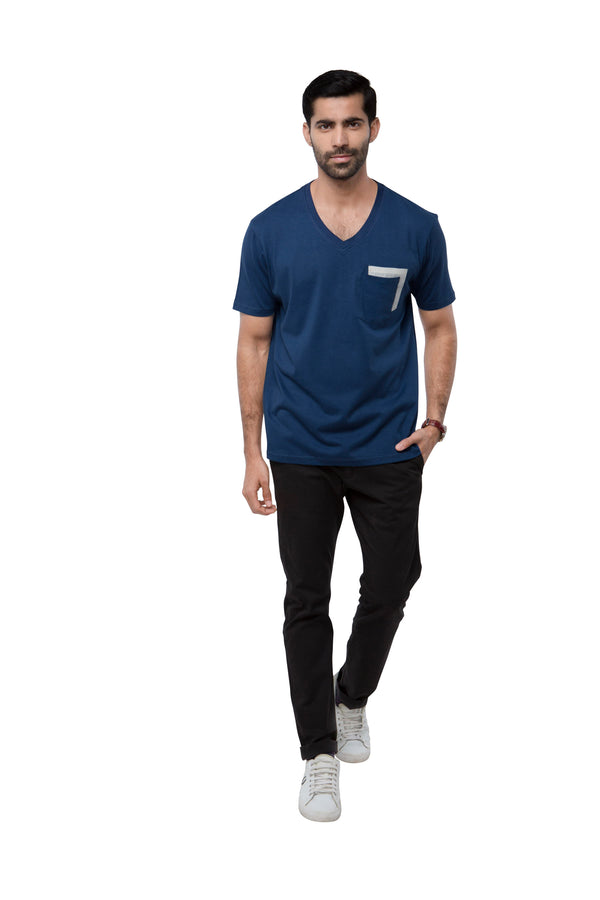 Eclipse Double Pocket T - Shirt  - Dark Blue (Only Size S left)