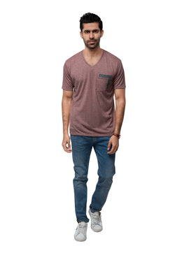 Eclipse Double Pocket T - Shirt  - Peach