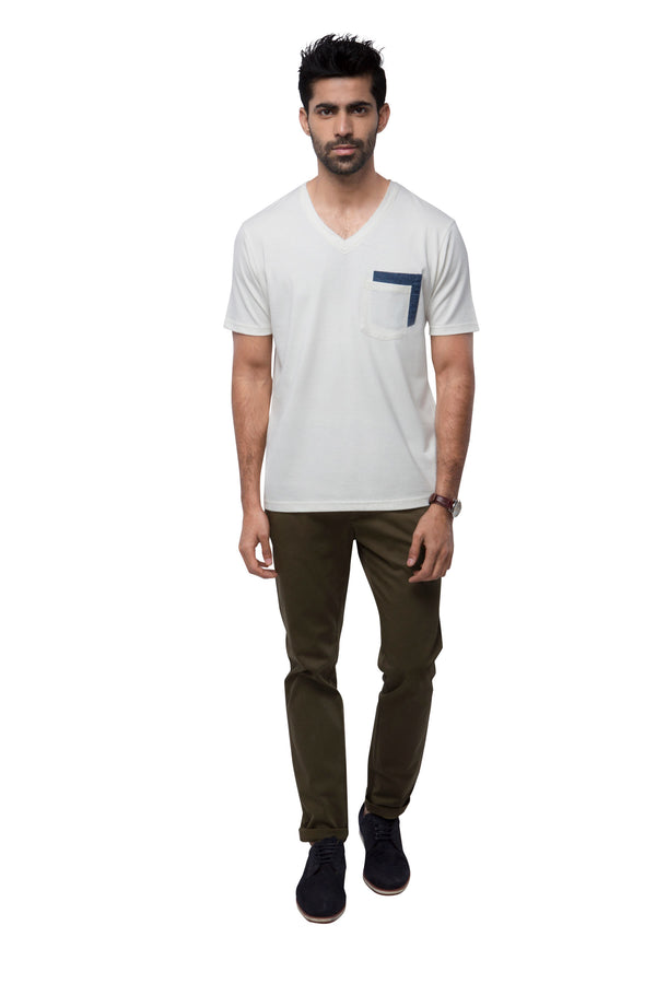 Eclipse Double Pocket T - Shirt  - White (Only S Left)