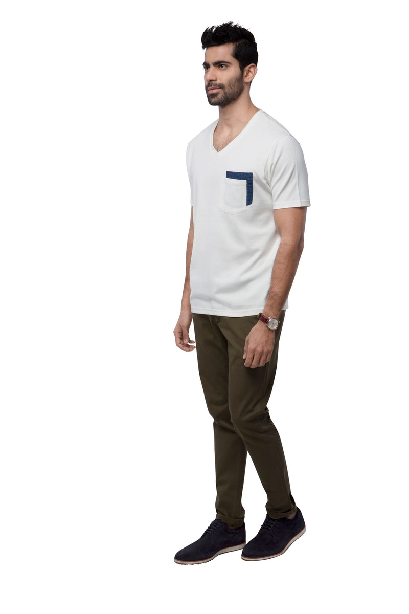 Eclipse Double Pocket T - Shirt  - White
