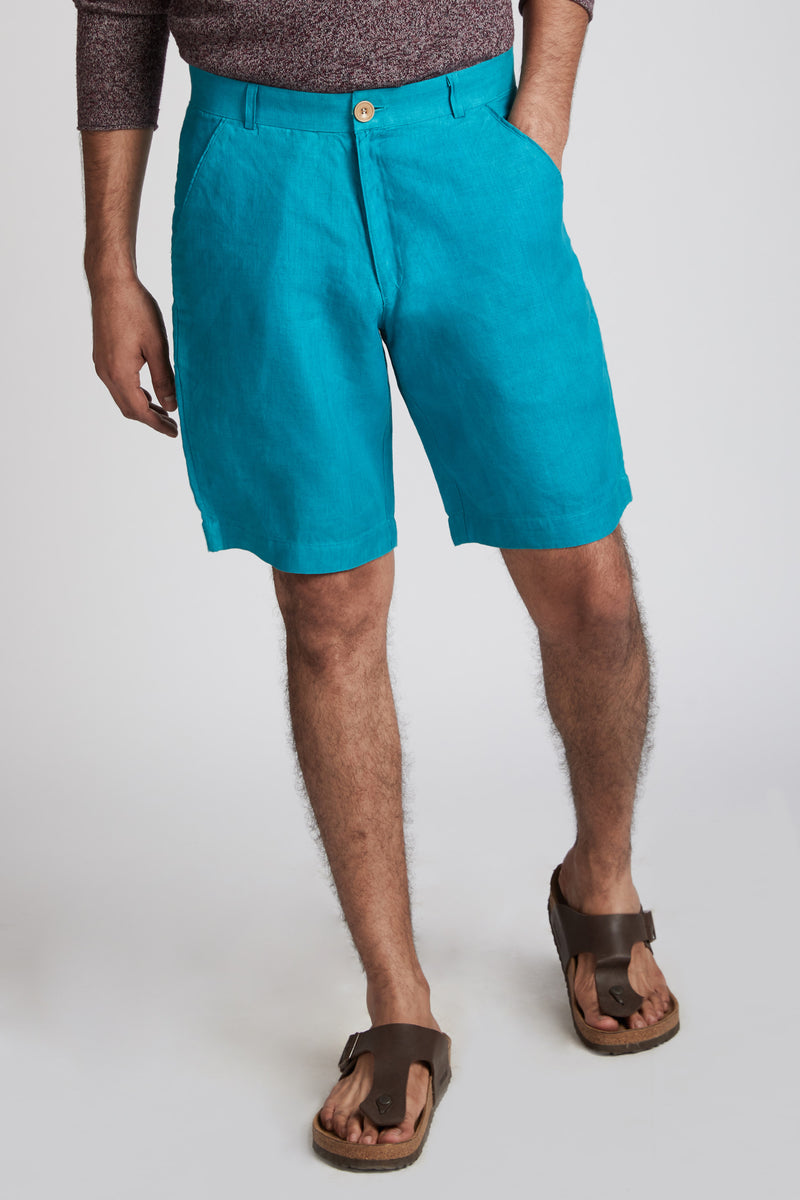 Evanescent Patch Pocket Shorts - Teal