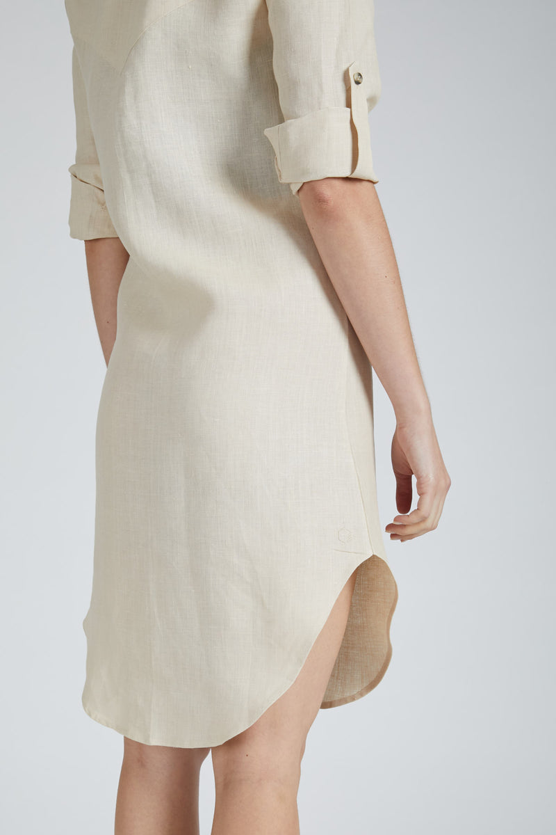 Fern Shirt Dress - Light Beige