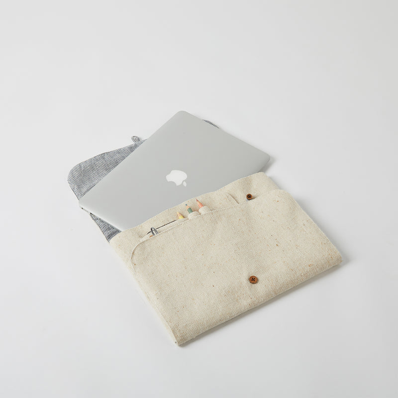 Foldable Laptop Sleeve - Off White