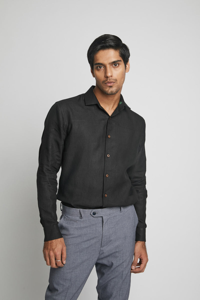 Galaxy Seam Shirt  - Black