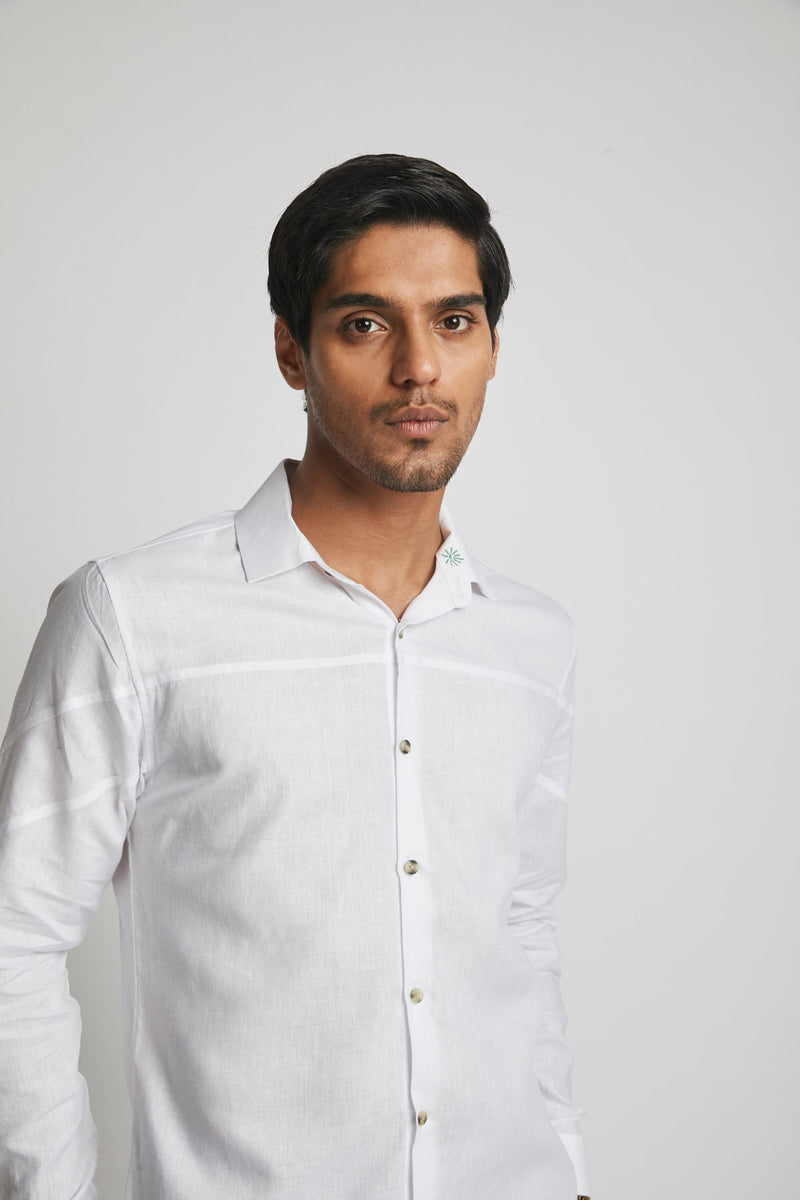 Galaxy Seam Shirt  - White