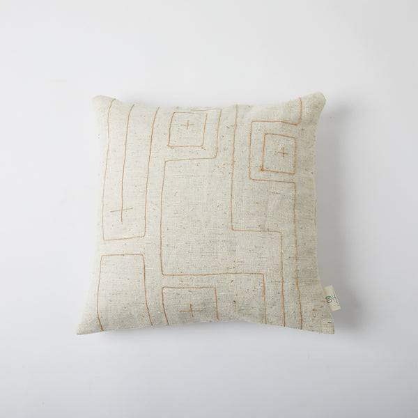 Labyrinth Twined Cushion - Off White