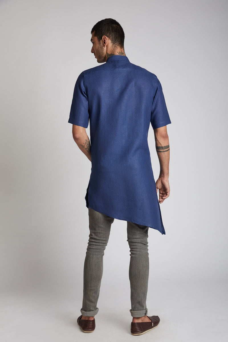 Metamorphosis Kurta - Navy (Only Size 44 Left)