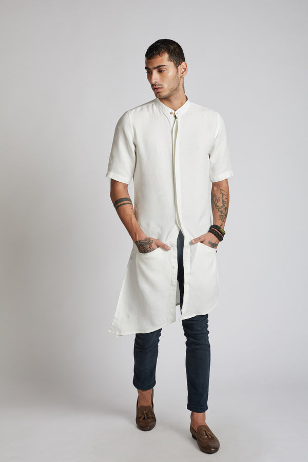 Metamorphosis Kurta - White