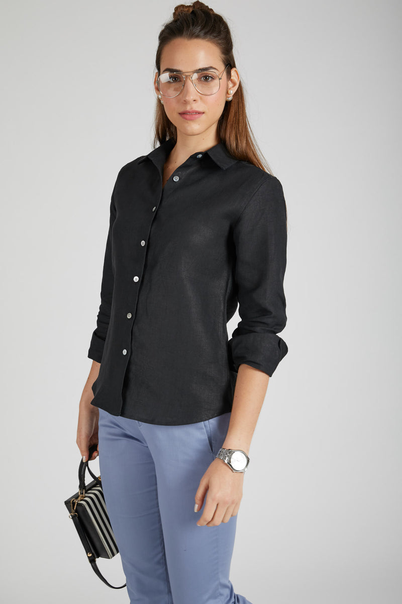 Mist Full Sleeve Shirt - Black