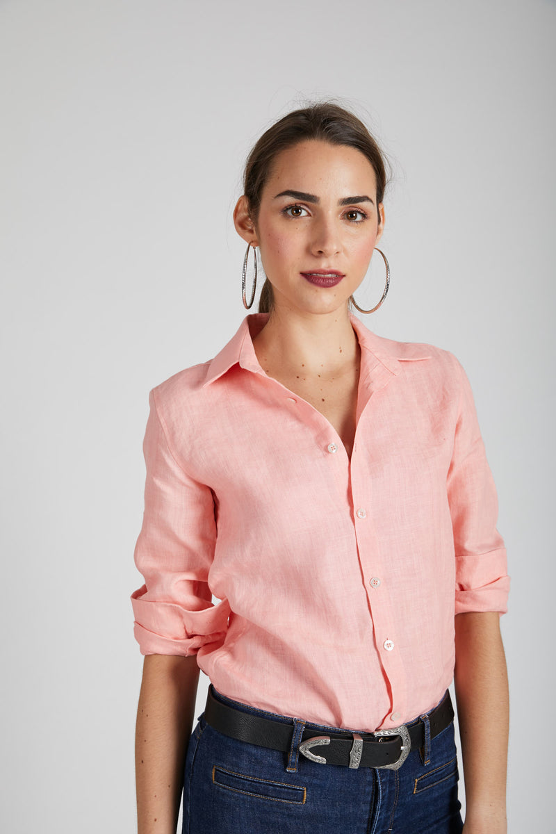 Mist Full Sleeve Shirt - Peach
