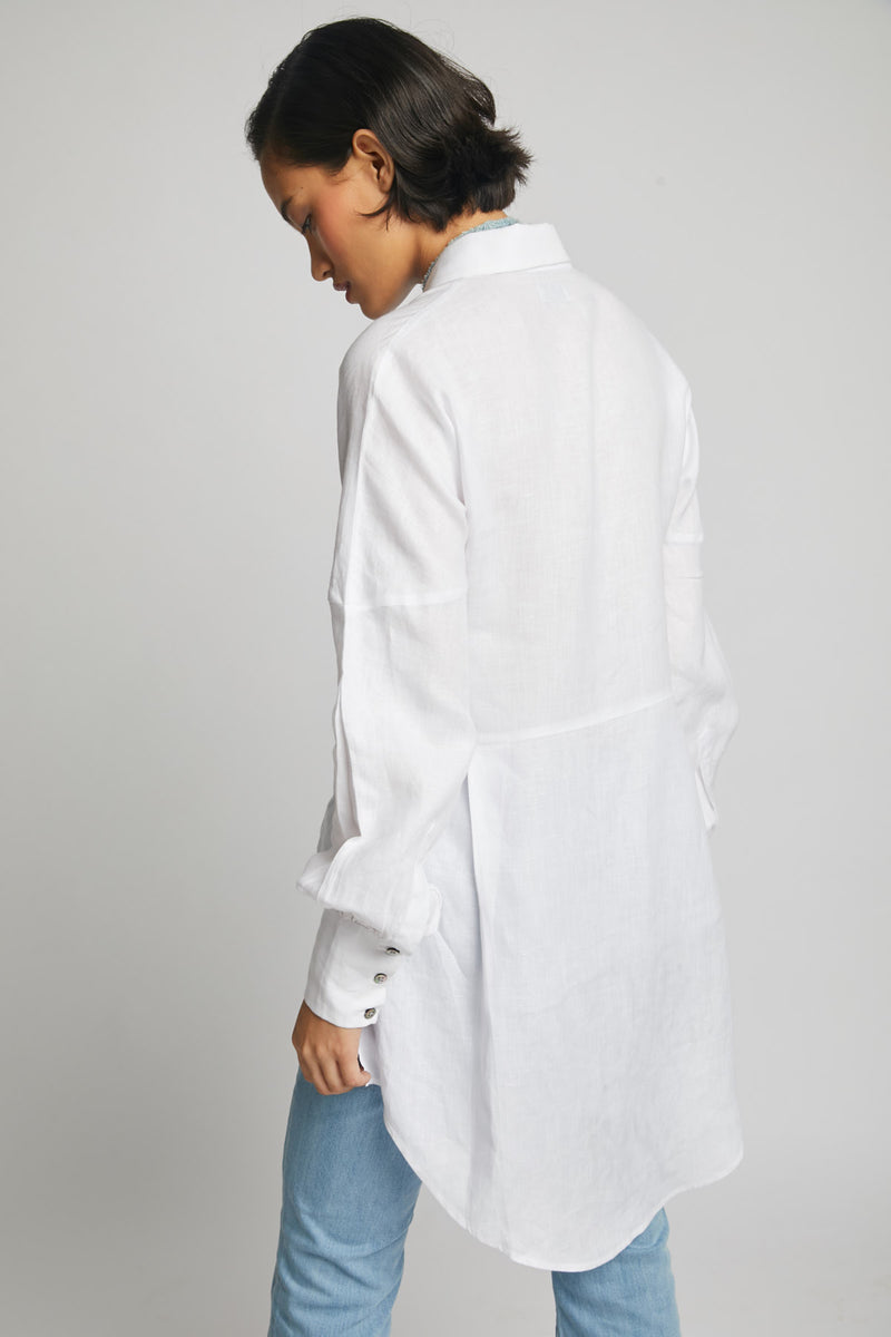 Morning Star Balloon Sleeve Shirt  - White