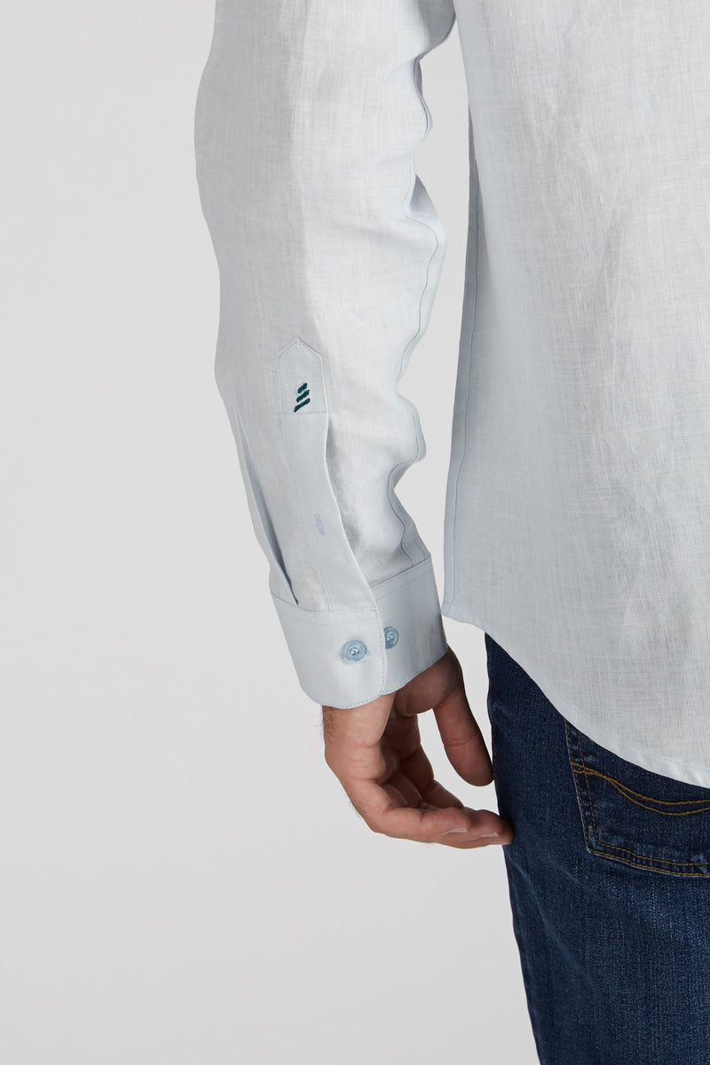 Origin Mandarin Collar Shirt - Blue
