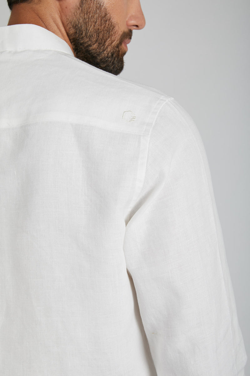 Origin Mandarin Collar Shirt - White