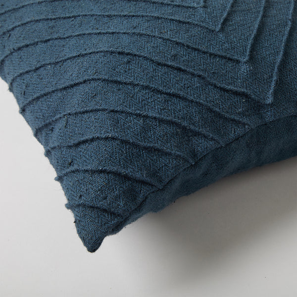 Pleated Cushion - Navy