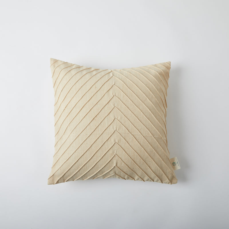 Pleated Cushion Cover - Off White