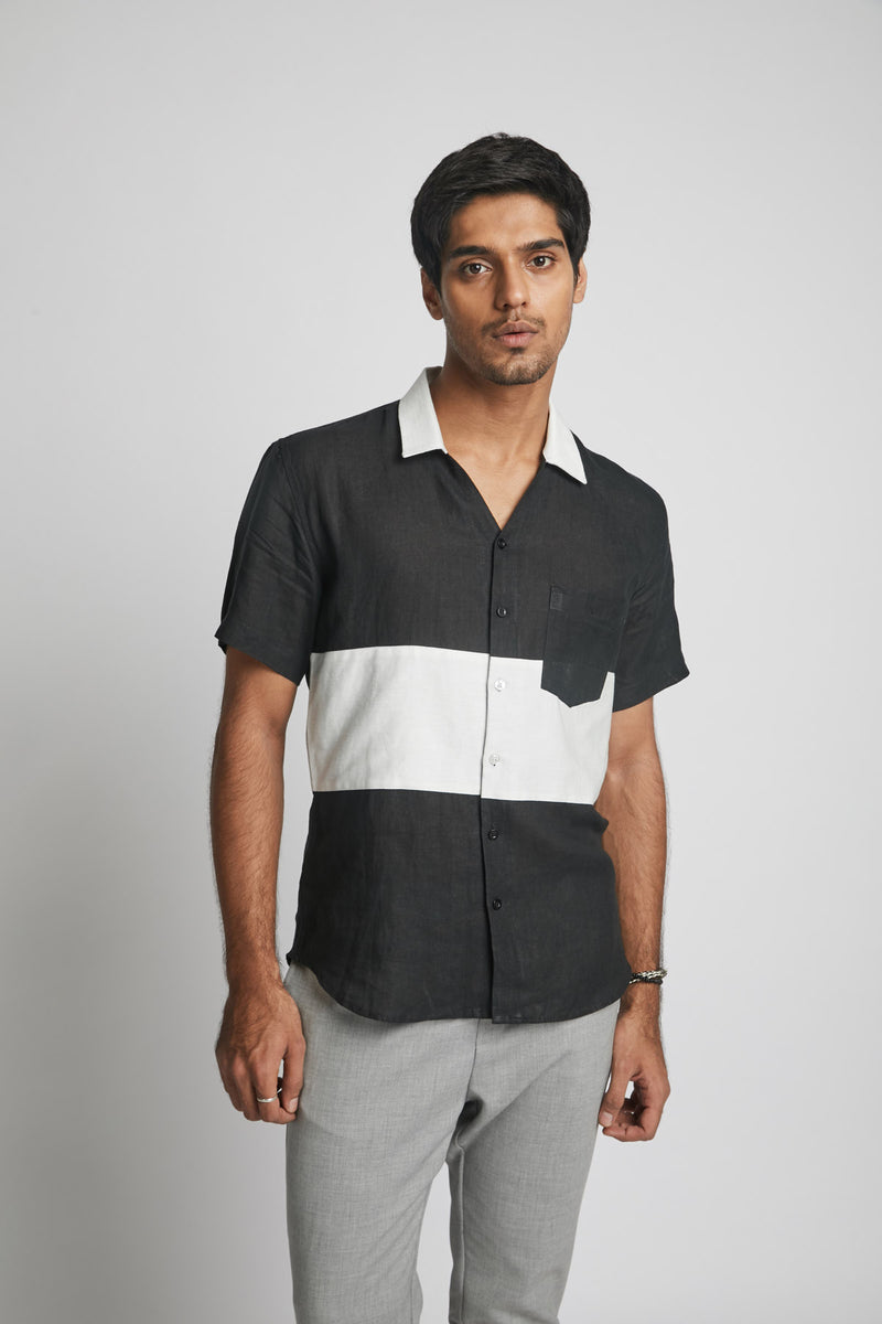 block shirt -radiate colour - black