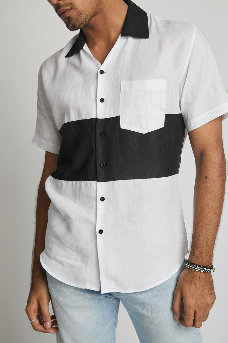 Radiate Colour Block Shirt  - White