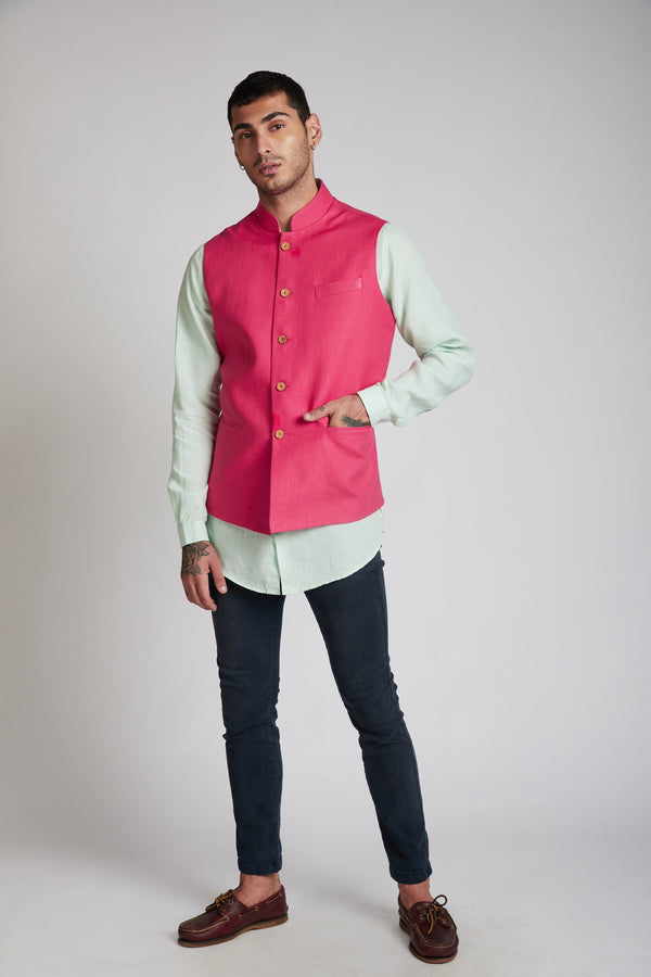 pink bandi for men