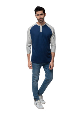 Sky Raglan T - Shirt  - Dark Blue (Only S Left)