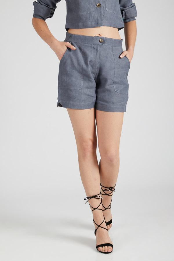 Spark Patch Pocket Shorts  - Grey