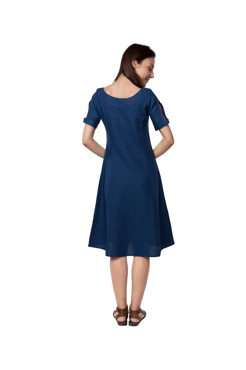 Twlight Calf Length Dress - Dark Blue