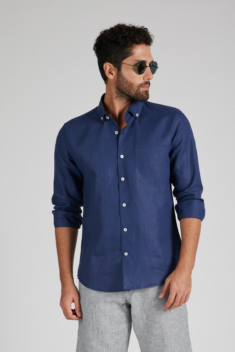 Velocity Buttondown Shirt - Navy