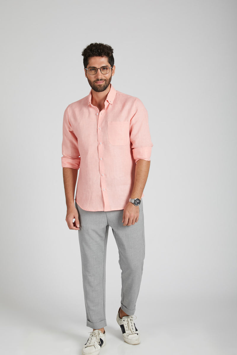 Velocity Buttondown Shirt - Peach