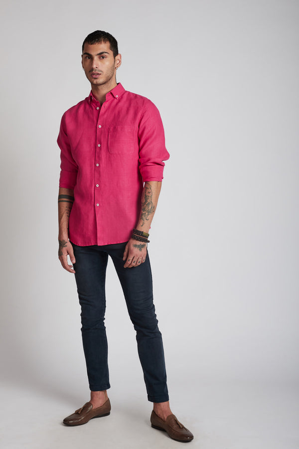 Velocity Buttondown Shirt - Hot Pink