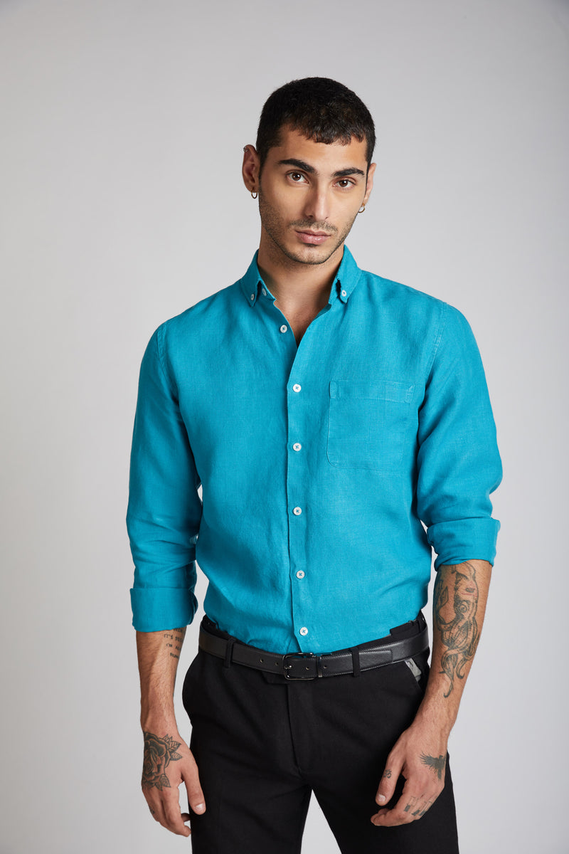 Velocity Buttondown Shirt - Teal